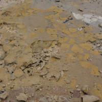 12 - Particolare della rimozione di stuccatura in cemento