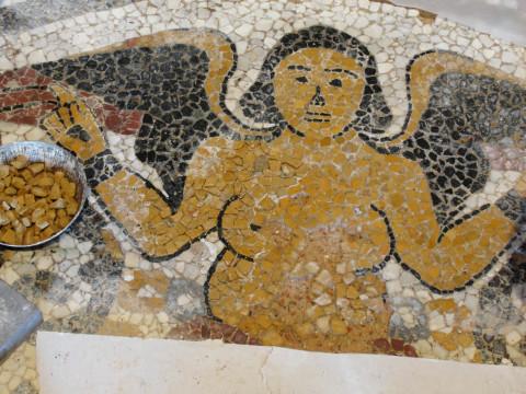 Restauro pavimentazione in mosaico del Santuario di Nostra Signora dell'Orto