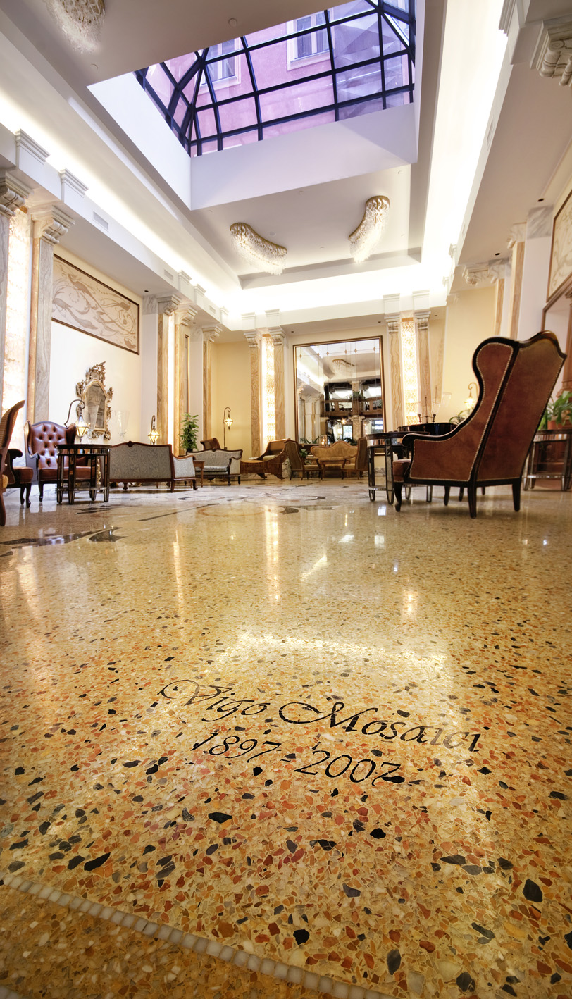 Vigo Mosaici Marble Grit Lobby Floor In 5 Stars Hotel