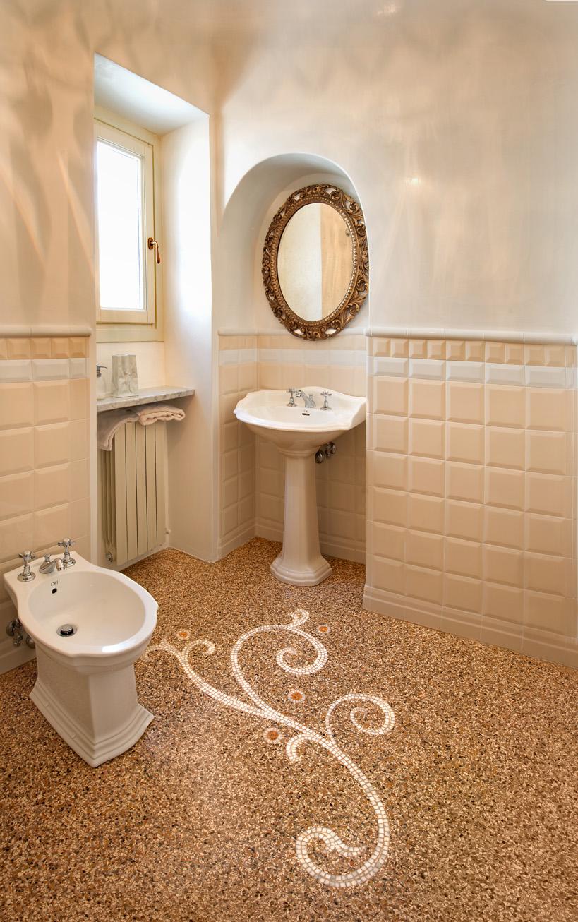 Vigo mosaici pavimento alla genovese abitazione privata for Pavimento con mosaico