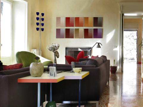 Villa privata a Zoagli decorazione in marmo abbinata a design moderno