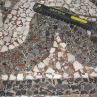 03 - Situazione prima del restauro stuccature degli interstizi con mastice bi componente