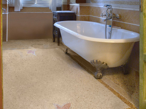 Marble grit bathroom furnitures with Devon and Devon bathtub