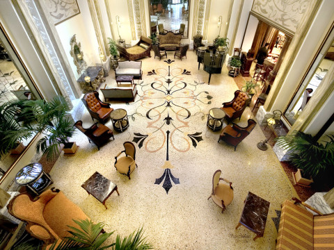 Marble grit lobby floor in 5 stars Hotel