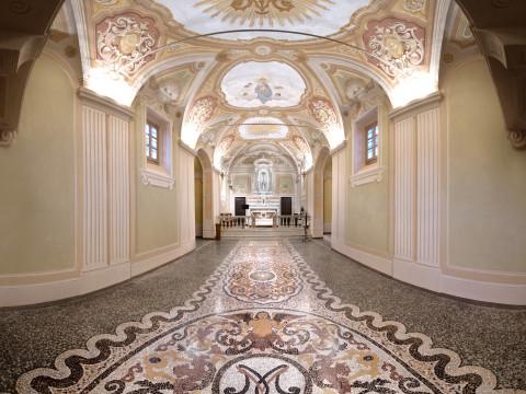 Seminato e mosaico alla veneziana Nostra Signora dell'Orto Gaiazza Ceranesi Genova